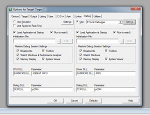 On top right select ST-Link Debugger and click Settings