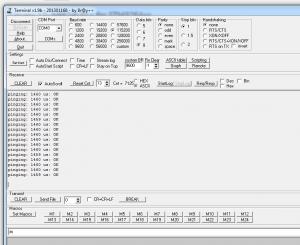 NRF24L01+ transmitter result