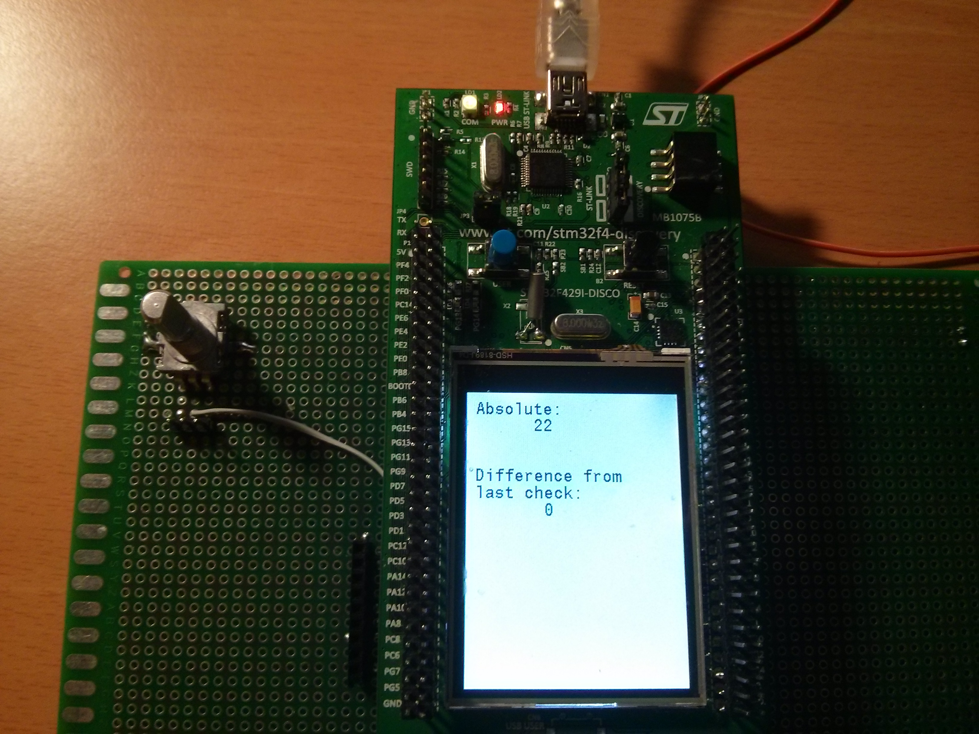 Library 26- Rotary encoder on STM32F4 - STM32F4 Discovery