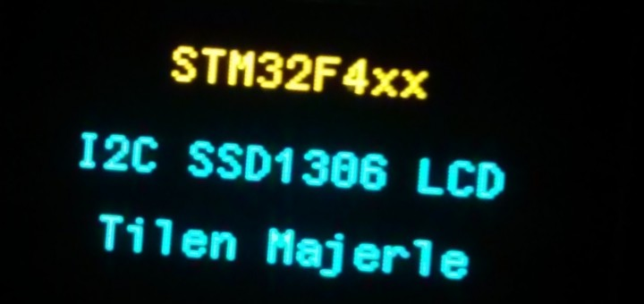 SSD1306 OLED I2C LCD with STM32F4