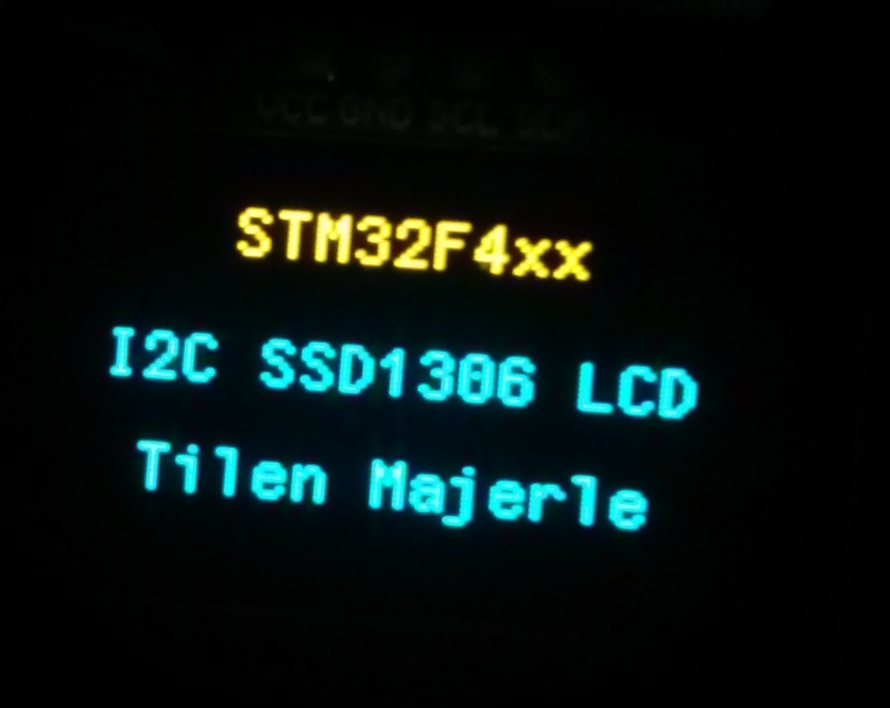 Library 61- SSD1306 OLED I2C LCD for STM32F4xx - STM32F4