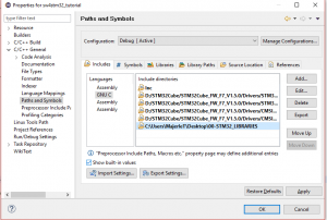 Add include path for TM libraries