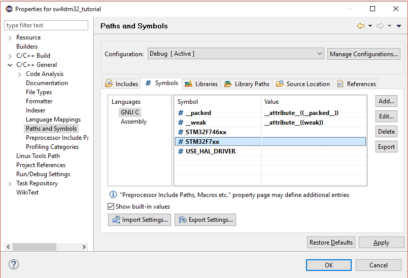 Tutorial - How to use TM libraries with System Workbench for STM32