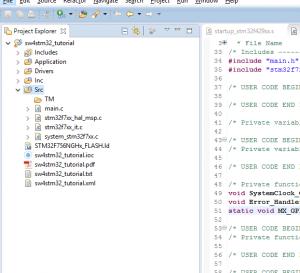 New TM folder inside Src folder