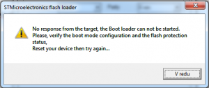 Flash loader demonstrator error